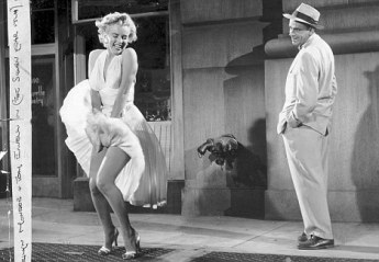 "1955 FILM : ""SEVEN YEAR ITCH""MARILYN MONROE AND TOM EWELL"